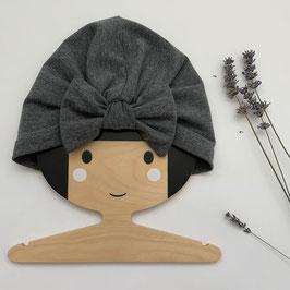 Turban mit Schleife Grau