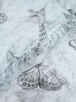 E142133 tortorella(蝶と鳥のストール)Faliero Sarti(ファリエロサルティ)