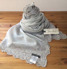 セール30%OFF!! ジャクリーン 刺繍レースストール ライトグレー I18 1016 Jacqueline Faliero Sarti(ファリエロサルティ)