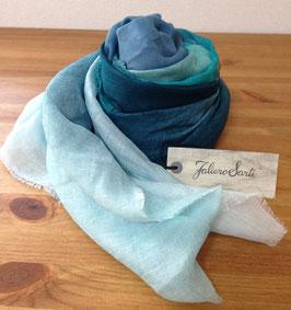 【セール20%OFF!!】E15 2012 Little Sfumellato(リトルスフメラート)ブルーグリーングラデーションストール Faliero Sarti(ファリエロサルティ)