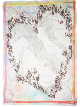 I16 2101 Italie(イタリアマップ柄ストール) Faliero Sarti(ファリエロサルティ)