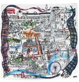 ロンドンスカーフ I17 2001 London Faliero Sarti(ファリエロサルティ)