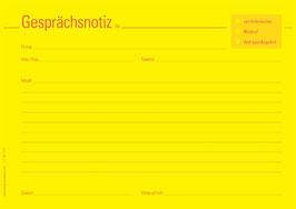 """Gesprächsnotizblocks """"quer"""""""