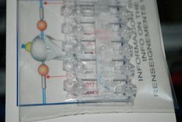 Clip beads transparentes
