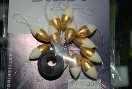 Perlas flotantes ovales