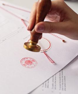 Auftrag für die Registrierung im Zentralen Vorsorgeregister der Bundesnotarkammer