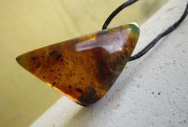 Green Amber pendant (M-33)