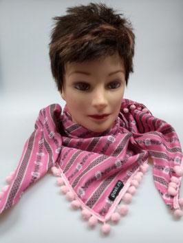 Dreieck Schal, pink