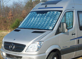 Set of 3 sun screens for driver cabins