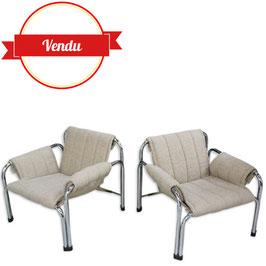 Paire de fauteuils vintage t2403 Viliam Chlebo