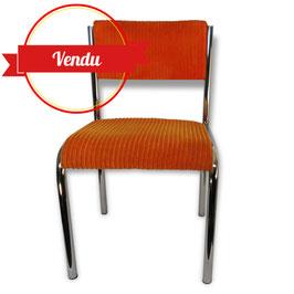 Paire de chaises design années 70