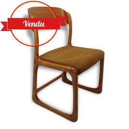 Suite de 4 chaises vintage Baumann traineau