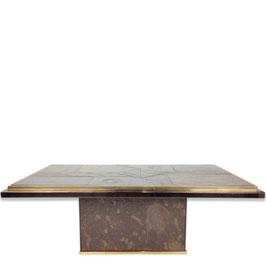 Table basse en pierre et bronze, Paul Kingma 1970