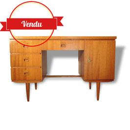 Bureau ancien en bois style scandinave