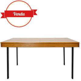 Table rectangulaire extensible des années 50 design Pierre Guariche