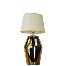 Lampe en métal et laiton Deknudt  de style art déco