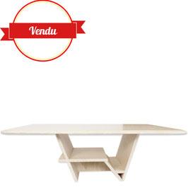 Table basse en travertin design des années 70