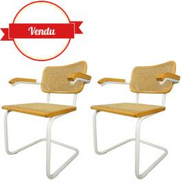 Paire de fauteuils Cesca B64 design Marcel Breuer