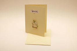 Schutzengel - Engelanhänger, mini mit Karte - handgezeichnet
