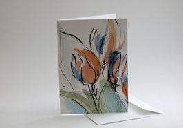 Frühlingskarte - Tulpen