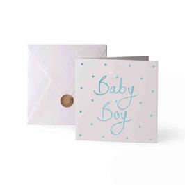 Baby Boy Grußkarte