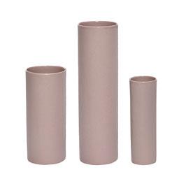 Vase Hübsch matt rosa