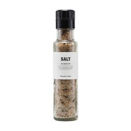 Salz mit Pilzen