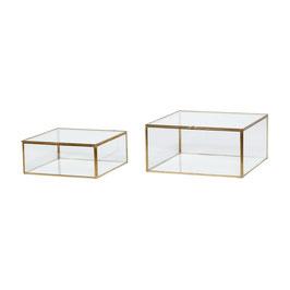 Glasboxen gold 2 Größen