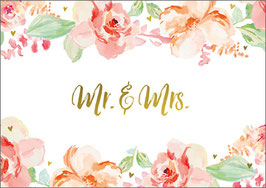 Umschlagkarte Mr&Mrs Flower Bouquet