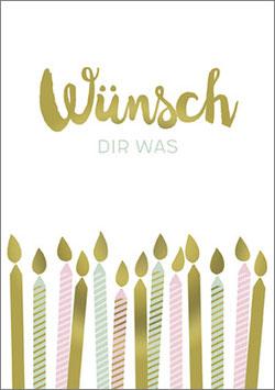 Umschlagkarte Wünsch dir was!