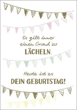 Umschlagkarte heute ist dein Geburtstag