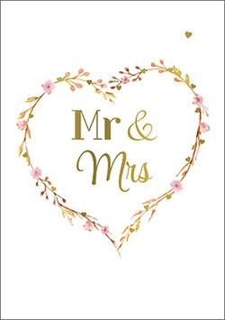 Postkarte Mr&Mrs