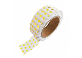 Washi tape gold dots