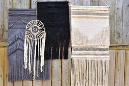 Goround Wandteppich grau oder schwarz
