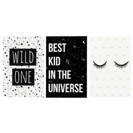 Postkartenset black and white