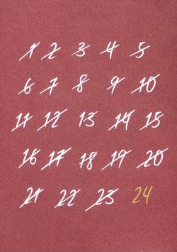 Weihnachtskarte Countdown