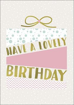 Umschlagkarte lovely Birthday