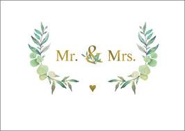 Postkarte Mr and Mrs Eukalyptus