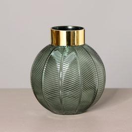 Vase grün mit Goldrand