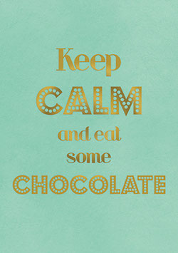 Postkarte  Keep calm and eat some chocolate