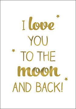 Postkarte   I love you to the moon and back!