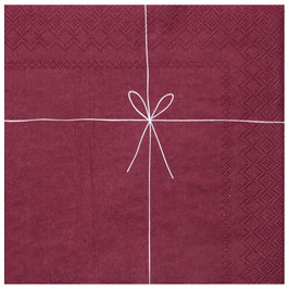 Serviette Geschenk rot