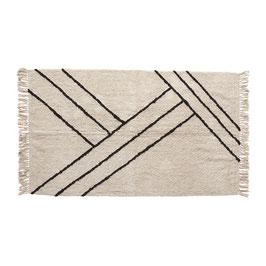 Teppich weiß/gestreift