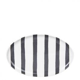 ovaler Teller mit Streifen