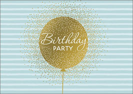 Umschlagkarte Happy Birthday blau