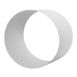 Metallregal rund weiß