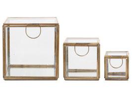 Glasboxen mit Goldrand