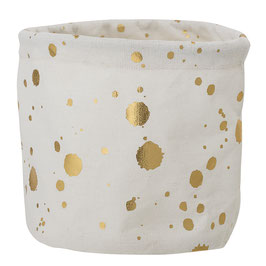 Storage baskets gold dots