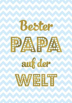 Postkarte Bester Papa auf der Welt