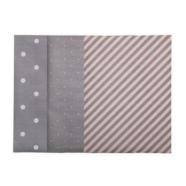 Geschenkpapierset grau